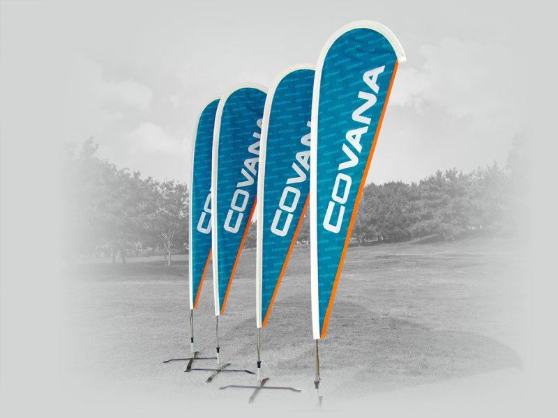 série de 4 beach flag -goutte pour la compagnie covana