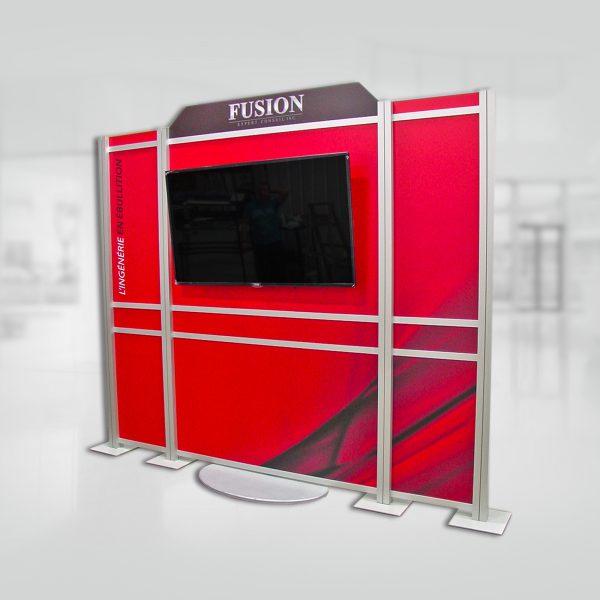 un kiosque modulaire fabriqué avec les extrusions Octanorm