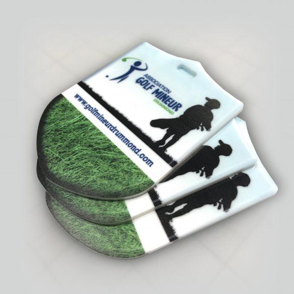 l'impression d'écusson de sac de golf en acrylique