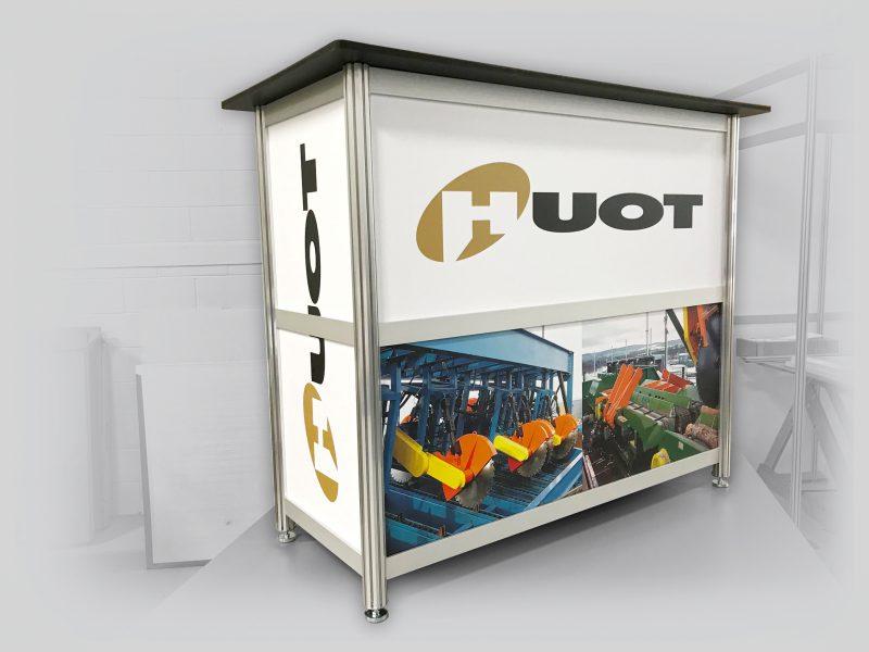 meuble comptoir de kiosque fabriqué en extrusion d'aluminium