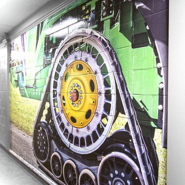 impression de murale corporative pour bloc de béton