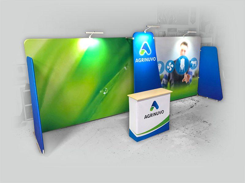 voici un example de configuration du kiosque d'exposition pourtour