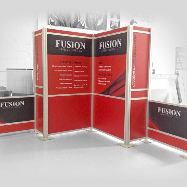 kiosque modulaire en extrusions Octanorm