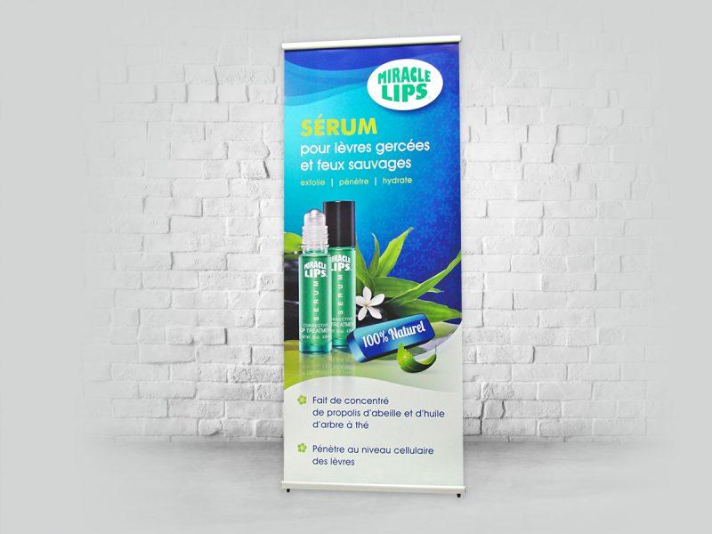 l-banner produit d'exposition ou support a bannière economique