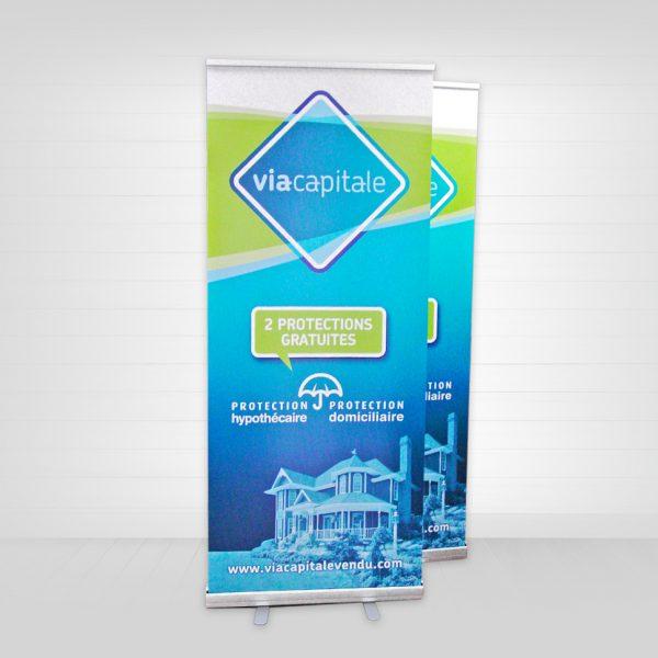 notre produit d'exposition roll-up économique en 2 copies