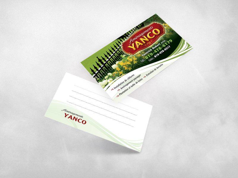carte d'affaire imprimée sur un carton mat recyclé