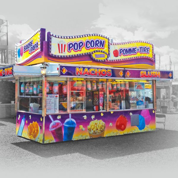 un magnifique lettrage de kiosque à bonbon pour foire