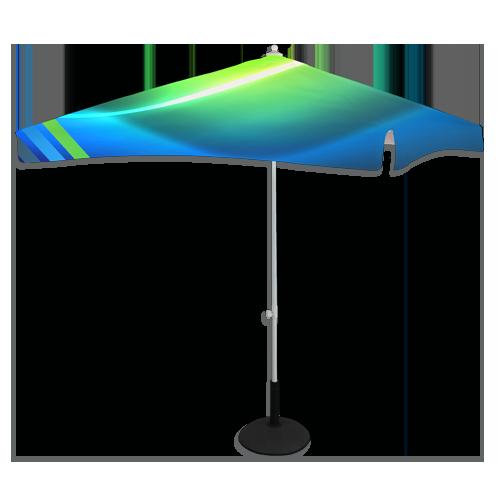 une ombrella de forme carré avec impression personnalisée