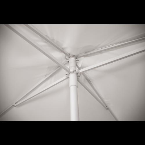 vue de l'intérieur de la toile de l'ombrella carré