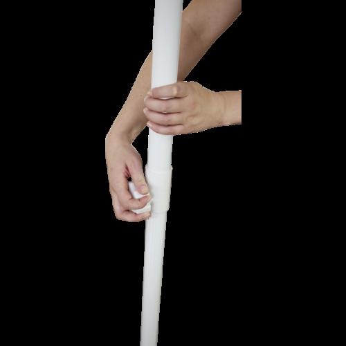 installation de la pole de l'ombrella carré