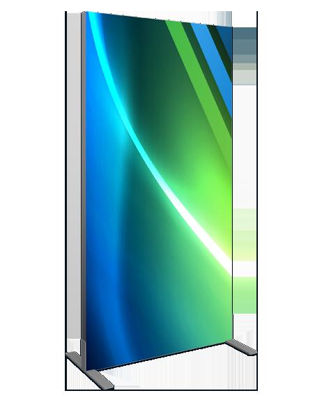 les produits pour kiosque et stand push-frame sont simple d'installation