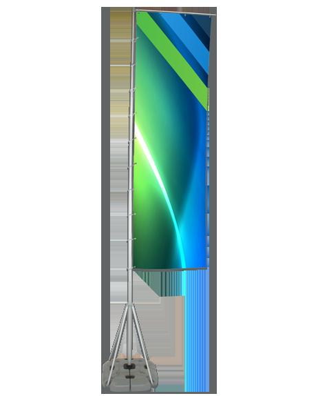 le virvolt est notre model de beach flag le plus robuste