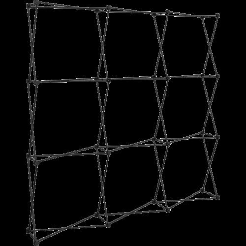 structure x-clam qui accepte l'installation des visuels en tissu