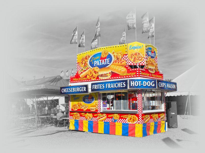 lettrage créé pourune cantine de parc d'amusement