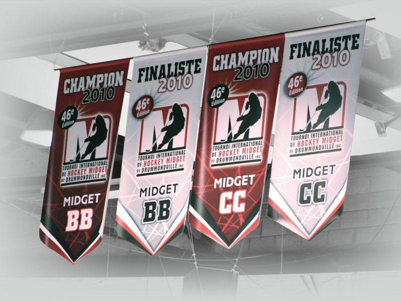 réalisation de bannières pour tournoi de hockey