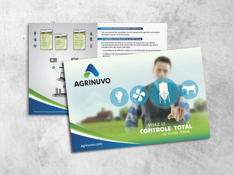 représentation d'un carton publicitaire imprimé des 2 cotés