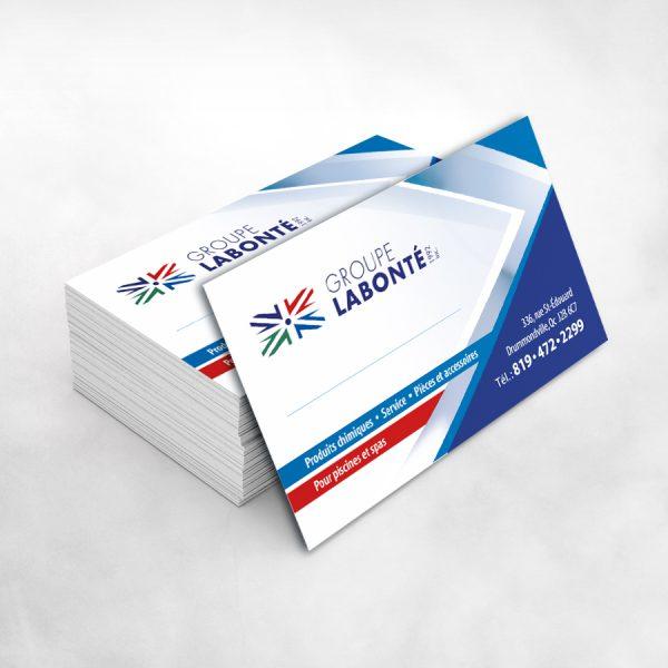 voici un lot de cartes d'affaires pour la comagnie Labonté