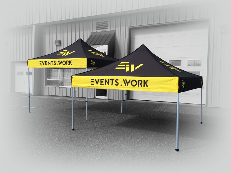 2 tentes canopy personnalisées de 10 pieds par 10 pieds