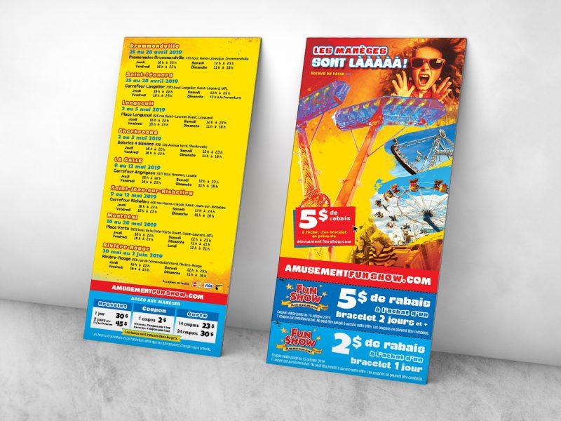 conception et impression d'un carton publicitaire pour un évènement