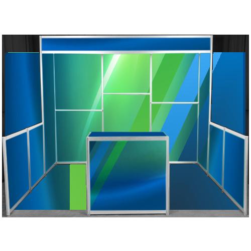 configuration exemplaire type d'un kiosque d'exposition 10x10