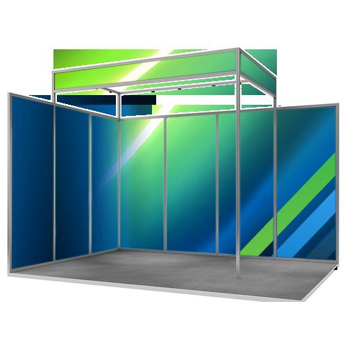 stand de location en extrusion d'aluminium octanorm