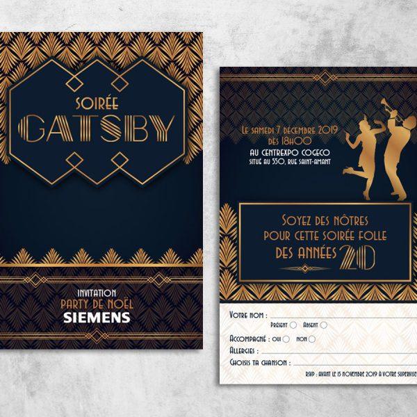 l'impression d'un carton d'invitation pour un évènement promotionnel