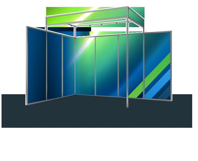 stand d'exposition modulaire du type octanorm avec plusieurs configurations
