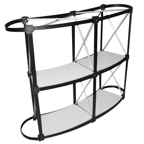 vue de la structure du comptoir de kiosque Galaxy sans la tablette de dessus