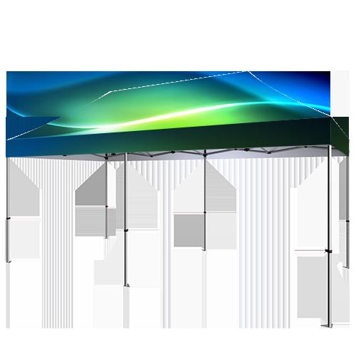 représentation de la tente canopy au format de 10x20